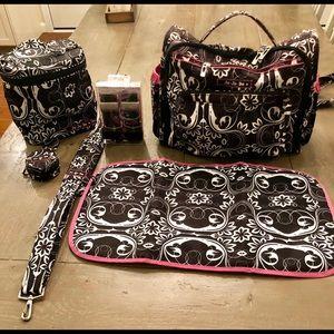 JuJuBe BFF 6 PIECE Diaper Bag & Accessories